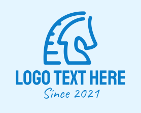 Management - Blue Horse Stallion logo design