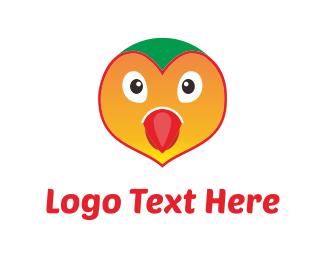Green And Orange - Orange Bird logo design