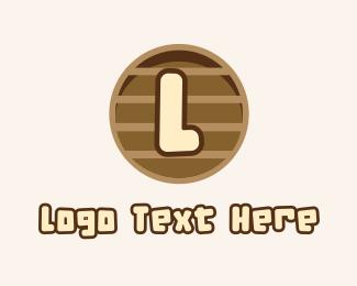 Wooden - Wooden Text Letter logo design