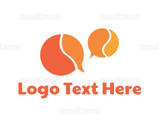 Snapchat - Orange Speech Bubbles logo design