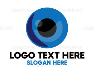 Watching - Blue Eye Ball logo design