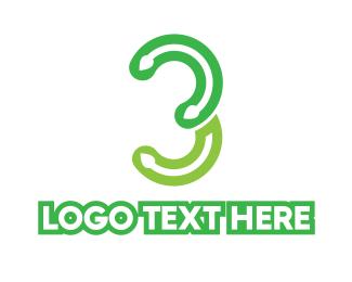 Number 3 - Vine Number 3 logo design