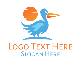 Migration - Blue Stork logo design