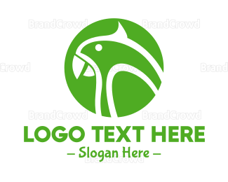 Bird House - Green Parrot  logo design