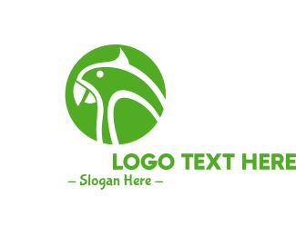 Parrot - Green Parrot logo design