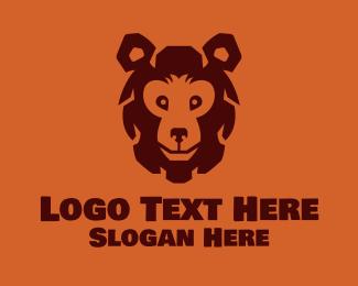 Teddy - Brown Bear Mascot logo design