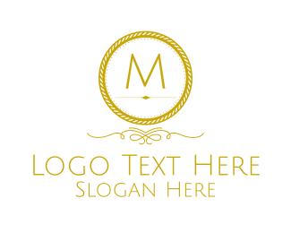 Patchwork - Golden Luxurious Round Lettermark logo design