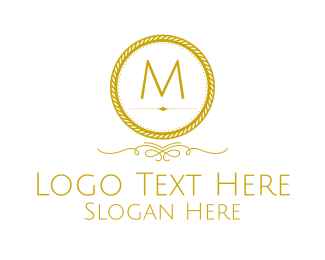 Luxurious - Golden Luxurious Round Lettermark logo design