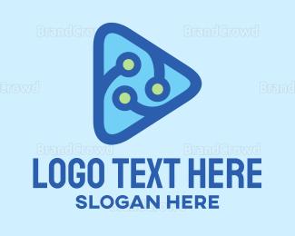 Computer - Youtube Tech Vlog logo design