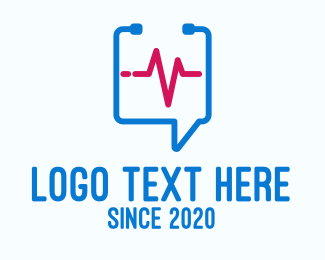 Flatline - Medical Check Up Messaging logo design