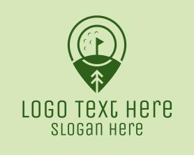 Locator - Golf Course Location logo design