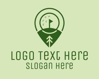 Golf Equipment - Golf Course Location  logo design