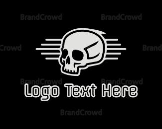 Hacker - Skull Emblem logo design