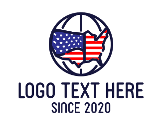 Landmass - American Global Company logo design