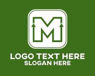 Upward - Growth Letter M logo design