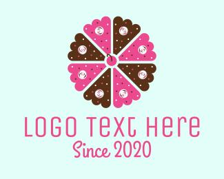 Cake Shop - Flower Cake logo design