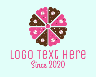 Biscuit - Flower Cake logo design