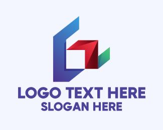 Geometric Shapes - Modern Geometric Letter G logo design