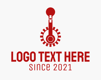 Engine Parts - Red Pedals Repair logo design