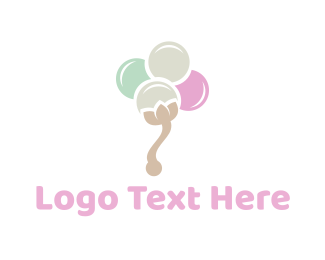 Creamery - Cotton Flower logo design
