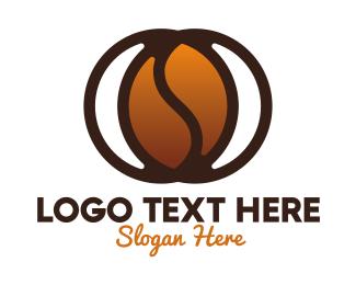 Drip Coffee - Modern Coffee Bean logo design