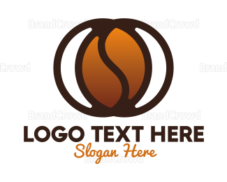 Cappuccino - Modern Coffee Bean logo design