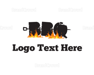 Barbecue - Barbecue Letters logo design
