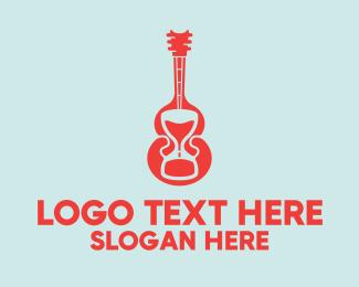 Electric Guitar - Guitar Hourglass logo design