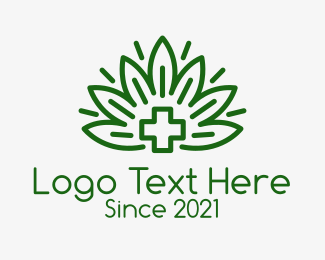 Medical Drug - Green Medicinal Plant logo design