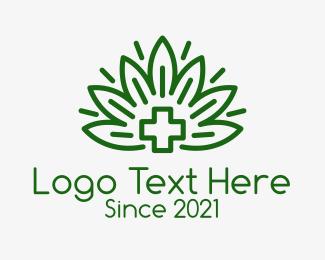 Medicinal - Green Medicinal Plant logo design
