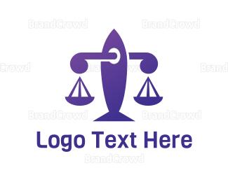 Law - Violet Law logo design