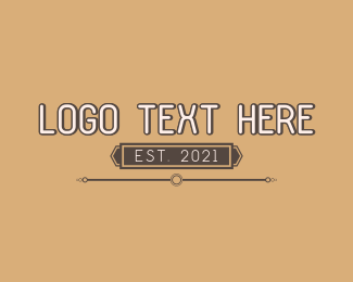 Word - Fashion Sans Serif Wordmark logo design