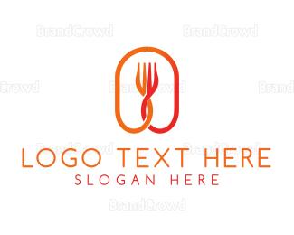 Food Blog - Orange Fork logo design
