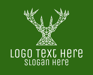 Reindeer - Simple Reindeer Line Art logo design