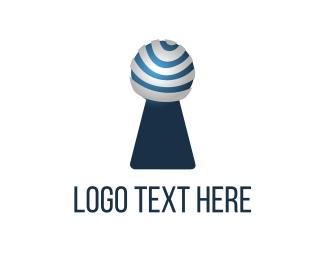 Modern Keyhole Logo