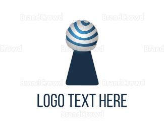 Biometric - Modern Keyhole logo design