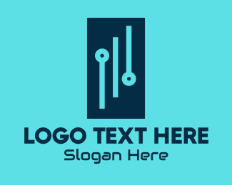 Software Development - Digital Circuit Rectangle logo design