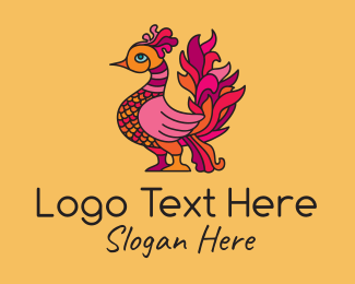 Poultry - Phoenix Bird Creature logo design