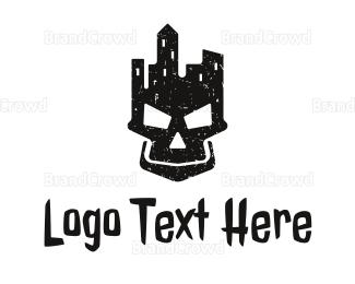 Naughty - Death City logo design