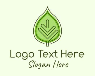Organic Product - Green Ecology Leaf logo design