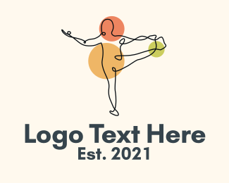Wellbeing - Yoga Stretch Minimalist logo design