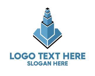 Property - Blue Property Tower logo design