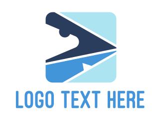 Maritime - Shark Arrow logo design