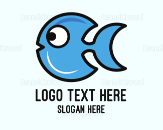 Hobby - Crescent Blue Fish logo design