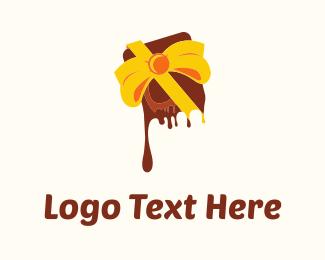 Present - Chocolate Gift logo design