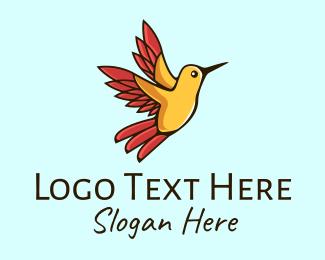 Flying - Flying Hummingbird  logo design