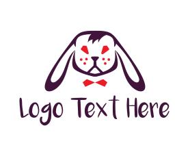 Bunny Rabbit Head Logo