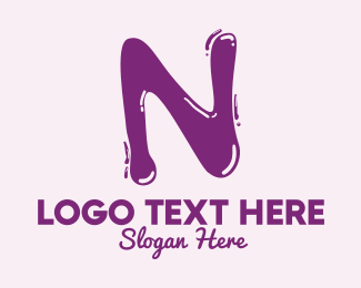 Flavored Drink - Liquid Letter N logo design
