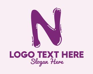 Letter - Liquid Letter N logo design