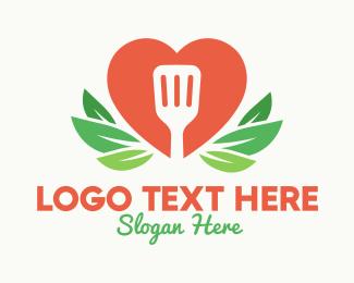 Restaurant - Spatula Heart Restaurant logo design
